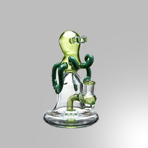 LOOKAH WATER PIPE | BULGED EYE OCTOPUS DESIGN WITH DISC PERC | 7"