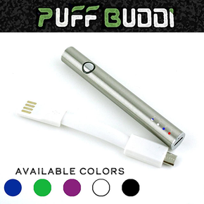 PUFF BUDDI | E-SLIM BATTERY | VARIABLE VOLTAGE | WITH USB PASS THROUGH CHARGER | 380MAH