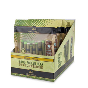 KING PALM | 25PACK KING ROLLS + BOVEDA | 8 COUNT DISPLAY