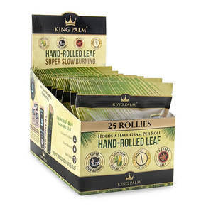 KING PALM | 25PACK ROLLIES + BOVEDA | 8 COUNT DISPLAY