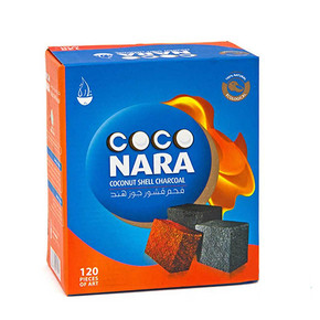 COCO NARA   COCONUT SHELL CHARCOAL   120 FLAT PIECES