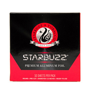 STARBUZZ PREMIUM PRE-POKED ALUMINUM FOIL | PACK OF 50 SHEETS