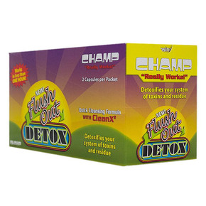 CHAMP FLUSH OUT DETOX | 2 CAPSULES PER PACK | BOX OF 40 PACKS
