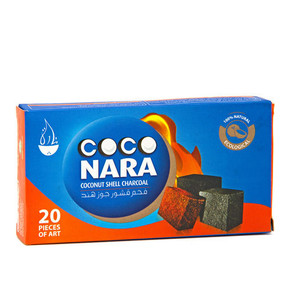 COCO NARA   COCONUT SHELL CHARCOAL   20FLAT PIECES