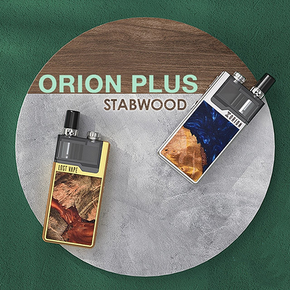 LOST VAPE | ORION PLUS POD SYSTEM STARTER KIT | WITH 2ML REFILLABLE POD | 22W | 950MAH | STABWOOD EDITION