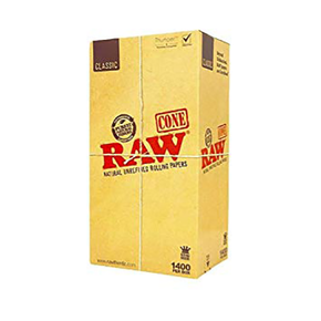RAW | CONE ROLLING PAPERS | PRE-ROLLED | KING SIZE CONES | 1400 PACK
