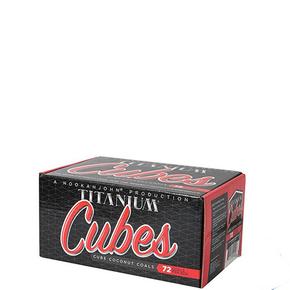 HOOKAH JOHN | TITANIUM COCONUT COALS | 1KG BOX | 72 CUBE PIECES