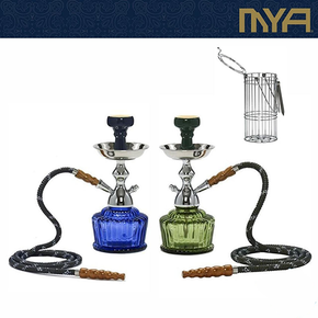 MYA | QT 265 SINGLE HOSE 14 INCH HOOKAH WITH WIRE BASKET | ASSORTED COLORS