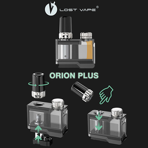 LOST VAPE | ORION PLUS REFILLABLE POD | WITH 2 COILS | 2ML | SINGLE