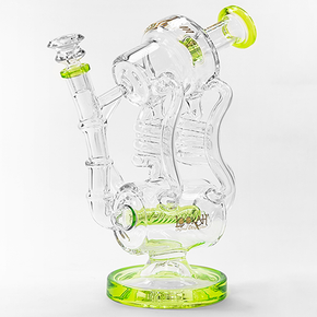LOOKAH | DOUBLE COIL DESIGN DUAL CHAMBER GLASS WATER PIPE W/  INLINE PERC | 860 GRAMS | 11 IN. | (1WPC753)
