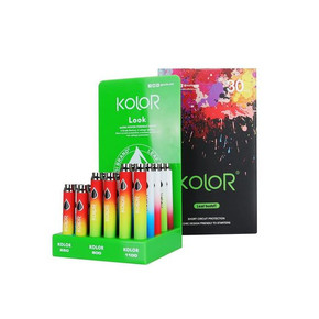 LEAF BUDDI | KOLOR TWIST BATTERY W/ USB CHARGER | PREHEAT | VV | DISPLAY OF 30