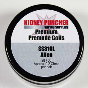 KIDNEY PUNCHER PREMADE SS316L ALIENS COIL(PAIR) WIRE