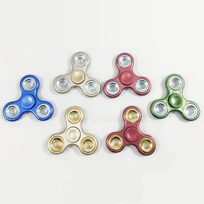 ULTIMATE FIDGET SPINNER TRI BLADE METALLIC WITH COUNTER WEIGHTS - ASSORTED