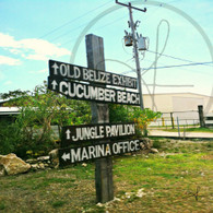 Belize Cucumber Beach Sign