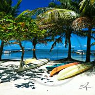 Caye Caulker Kayaks on Beach