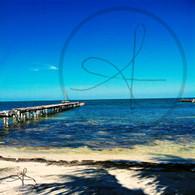 Caye Caulker Pier from Beachfront