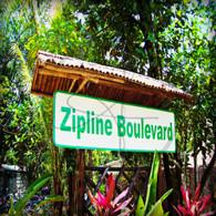 Caves Branch Zipline Boulevard Sign