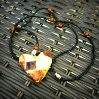 Mosaic Heart Beaded Necklace