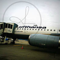 Lufthansa Plane Munich to Budapest
