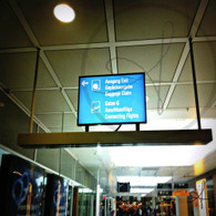 Munich Baggage Claim Airport Sign