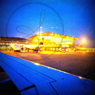 Budapest Airport at Night