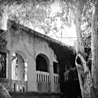 Tlaquepaque Patio Wall BW