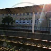 Burlington Station at Sunset