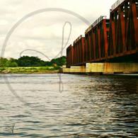 Train in Illinois Coming to Bridge