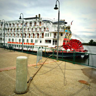 American Queen Moored in Burlington