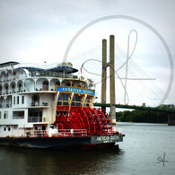 American Queen Paddle Wheel and Bridge