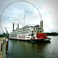 Docked American Queen Paddlewheel
