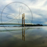 Burlington Bridge Fog 8x10