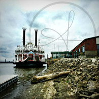 American Queen at Port Walkway 8x10