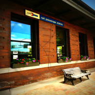 Macomb Station Rail Sign View