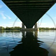 Under Bridge Reflection on Mississippi