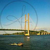 Burlington Bridge and Boats