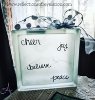 Cheer Joy Glass Block