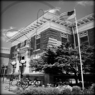Macomb Library Flag BW