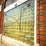 Glass Window Brick Building