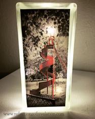 Crapo Red Slide Glass Block