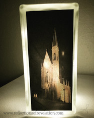 St Paul Catholic Church Glass Block