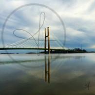 Burlington Bridge Fog 11x14