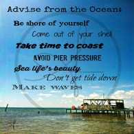 Advise from the Ocean 10x10