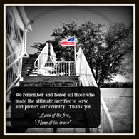 USA Flag Memorial Day 10x10