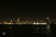 Chicago Skyline at Night 8x10