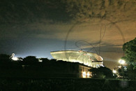 Soldier Field Stadium Night View with Flags 8x10