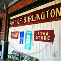 Burlington Welcome Center Sign