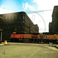 BNSF Engine 5646 and Train
