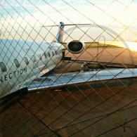 Iowa Airplane through Window