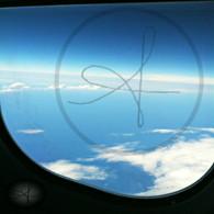 Belize Caribbean from Plane Window